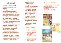 Ján Milčák - Mestská knižnica Bojnice