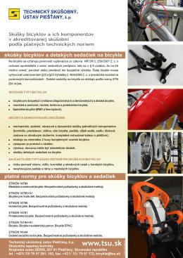 bicykle.pdf - TECHNICKÝ SKÚŠOBNÝ ÚSTAV Piešťany, š.p.