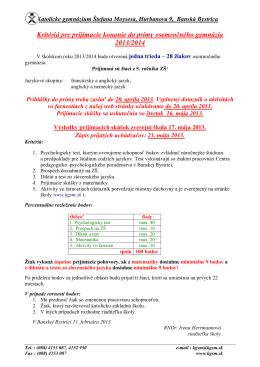 661007 Katolícke gymnázium Štefana Moysesa, Hurbanova 9