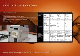 ORVALDI ORV 520PL/620PL/820PL