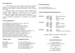 Cieľ konferencie - Vysoká škola báňská