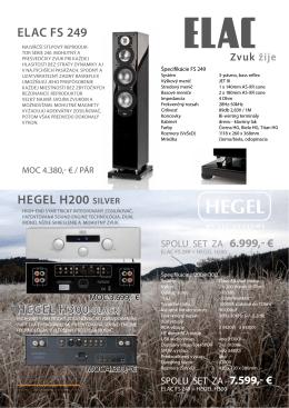 HEGEL H200 siLvEr ELAC Fs 249 HEGEL H300 bLACk