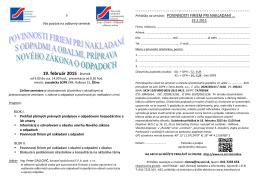 Prihláška - Interbiznis