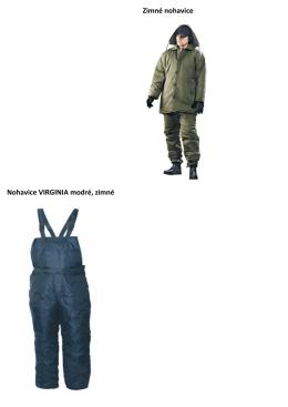 Zimné nohavice Nohavice VIRGINIA modré, zimné