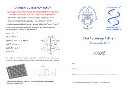 LAMBERTOV-BEEROV ZÁKON - Ústav experimentálnej onkológie