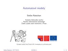 Automatové modely