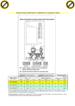 Panasonic Aquarea 9kW 3-fázová - požiadavky
