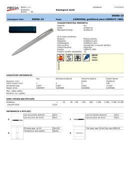 CARDINAL guličkové pero CERRUTI 1881, strieborn 99096