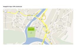 Navigačná mapa s GPS súradnicami + orientačné foto