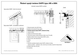 Řešení spojů izolace DAPE typu AB a ABA