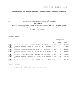(EÚ) č. 543/2011 - Ministerstvo pôdohospodárstva a rozvoja vidieka