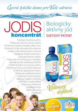 Výživový doplnok - PKR SLOVAKIA as