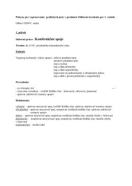 Pokyny pre vypracovanie grafických prác v OP 1. ročník