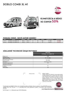 DOBLO COMBI XL M1 - Fiat Professional