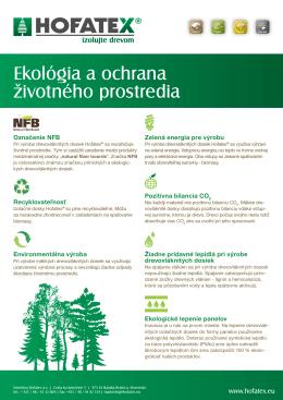 Ekológia a ochrana životného prostredia