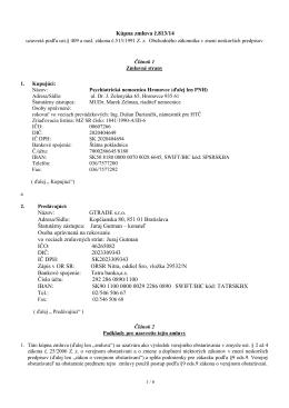 Kúpna zmluva č.813/14 Názov: GTRADE s.r.o. Adresa/Sídlo
