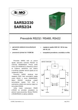 SARS2/230 SARS2/24 - SAMO Automation sro, Prešov