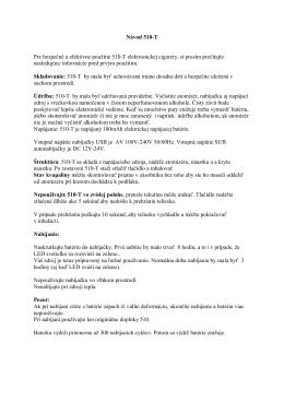 Návod pre 510-T (PDF) - cigaretaelektronicka.sk