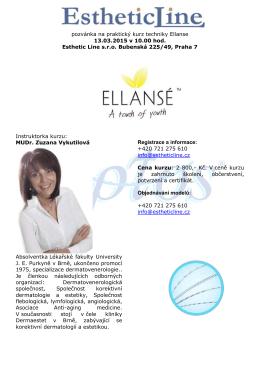 pozvánka na praktický kurz techniky Ellanse 13.03.2015 v