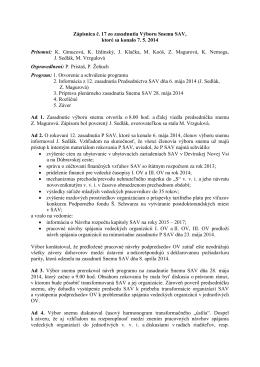 Výbor Snemu SAV č. 17