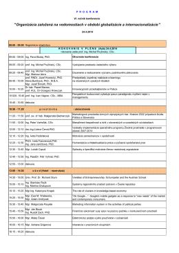 PROGRAM organizacia_2014