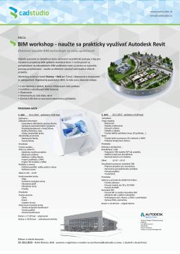 BIM workshop - naučte sa prakticky využívať Autodesk