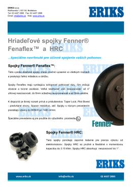 Hriadeľové spojky Fenner® Fenaflex™ a HRC