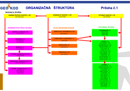 ORGANIZAČNÁ ŠTRUKTÚRA Príloha č.1 - GEO