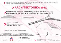 ARCH/TEKTONIKA 2014 - Spolok architektov Slovenska