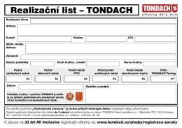 Realizační list – TONDACH