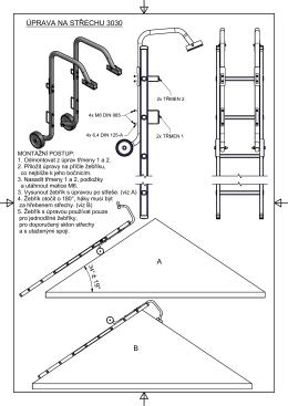 Návod k použití úprava na střechu 3030