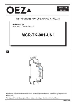Импульсное реле времени - MCR-TK-001-UNI