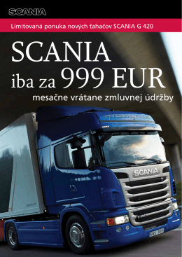 Kampaň Scania G 420 Highline
