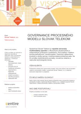 Governance procesného modelu
