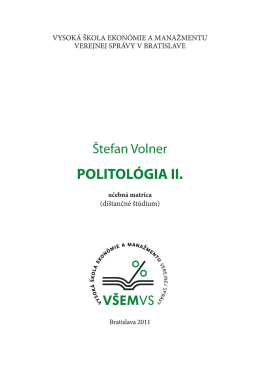 POLITOLÓGIA II.