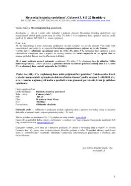 Slovenská lekárska spoločnosť, Cukrová 3, 813 22 Bratislava