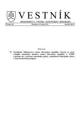 MINISTERSTVA VNÚTRA SLOVENSKEJ REPUBLIKY