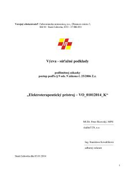 Elektroterapeutický prístroj – VO_01012014_K