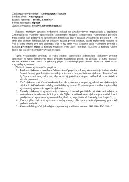 Andragogický výzkum Studijní obor: Andragogika Ročník