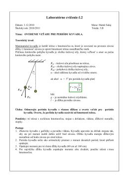 Laboratórne cvičenie č.2