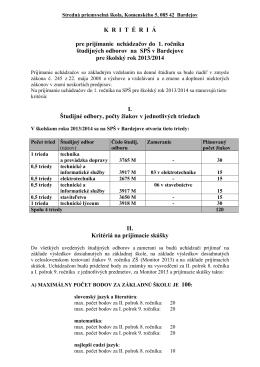 Kritériá PS 2013_2014