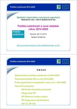Nové obdobie 14-20_aktual_02 - Spišská regionálna rozvojová