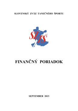 finančný poriadok sztš - Slovenský Zväz Tanečného Športu