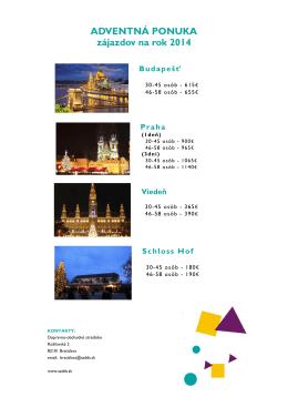 ADVENTNÁ PONUKA zájazdov na rok 2014 Viedeň