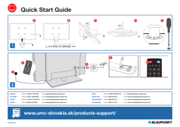 Quick Start Guide - UMC