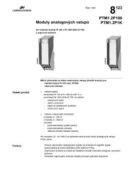 8123 Moduly analogovêch vstup$ PTM1.2P100