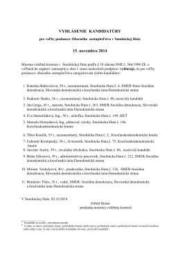 Kandidáti na poslanca (PDF)