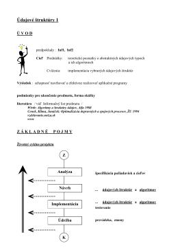 Údajové štruktúry 1