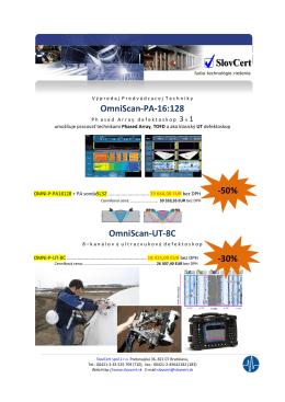 OmniScan-PA-16:128 OmniScan-UT-8C -50% -30%