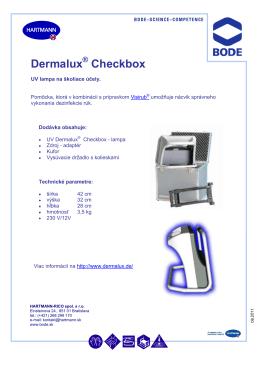 Dermalux check box - UV lampa pro školící účely